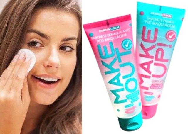 2 Kit Skin Care Dermachem Sabonete Líquido Prime Make Up E Demaquilante Make Out - Foto 5