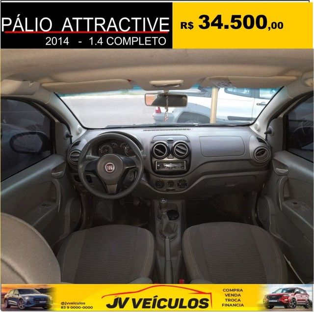 Palio attractive 1.4 completo (2014 economy) - Foto 7