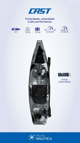 Caiaque de pesca cast com pedal Power drive.