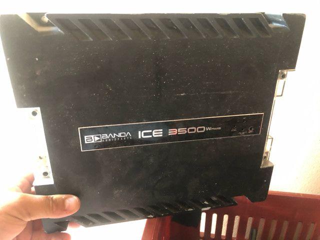 Amplificador automotivo 12v Banda Ice 3500 - Foto 2