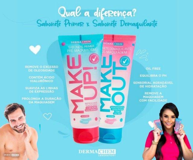 2 Kit Skin Care Dermachem Sabonete Líquido Prime Make Up E Demaquilante Make Out - Foto 2