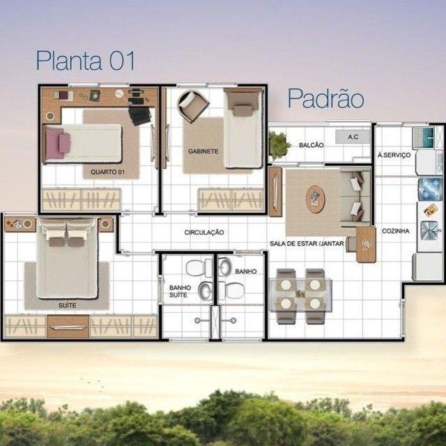 Condomínio Predilleto, Ponta negra, 56m², 2 e 3 quartos sendo 1 suíte - Foto 8