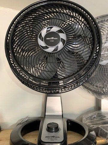 Ventilador 8 Pás Turbo Britânia Preto/Cinza 110v (novo)