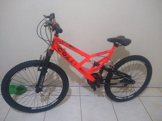 Bicicleta Colli Laranja Neon Aro 26