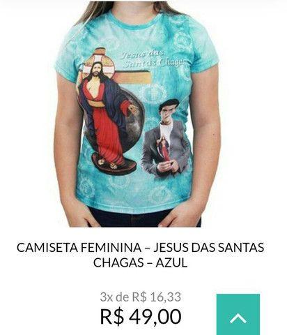 Camisetas Jesus das Santas Chagas - Foto 4