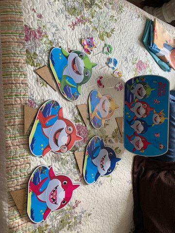 Kit painel de festa infantil Baby shark