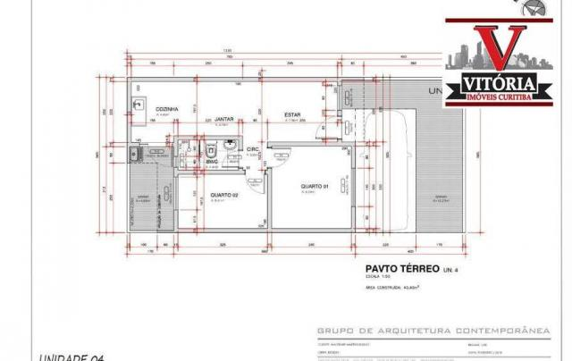 Casa com 2 dormitórios à venda - alto boqueirão - curitiba/pr - Foto 2