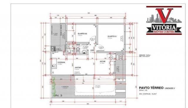 Casa com 2 dormitórios à venda - alto boqueirão - curitiba/pr - Foto 6