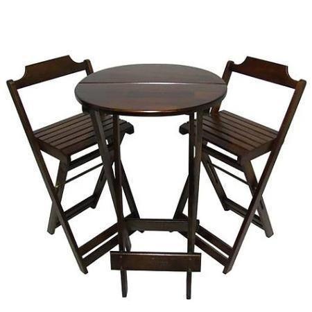 Conjuntos Dobráveis - Mesas 70 x 70 - com 2 ou 4 cadeiras - Foto 3