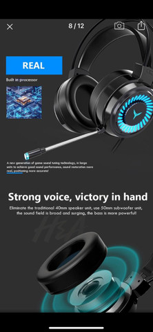 Headset Gamer Profissional 7.1 Surround 3D