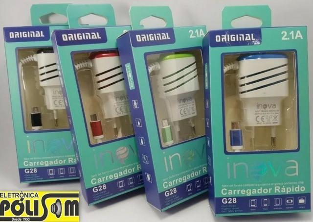 Carregador Turbo 2 entradas USB