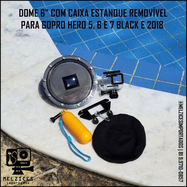 Dome + Caixa Estanque Removível para GoPro Hero 5 6 7 Black e 2018