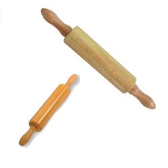 Rolo de madeira para massas 43 cm - Foto 2