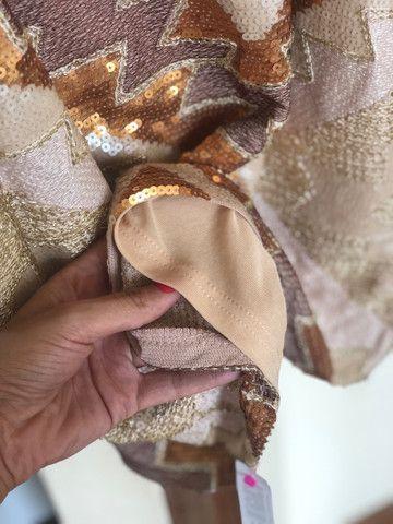 Vestido festa bordado com etiqueta  - Foto 3