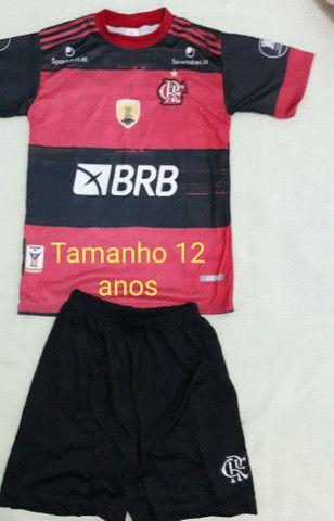 Camisa Flamengo infantil 6 e 12anos  - Foto 5