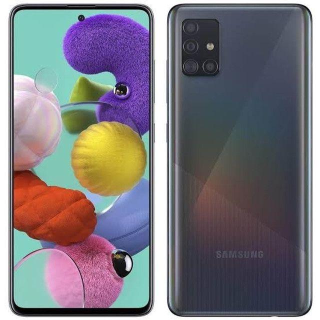 Galaxy A51 128gb Black NF, Garantia, Novo (Cartão 12x)