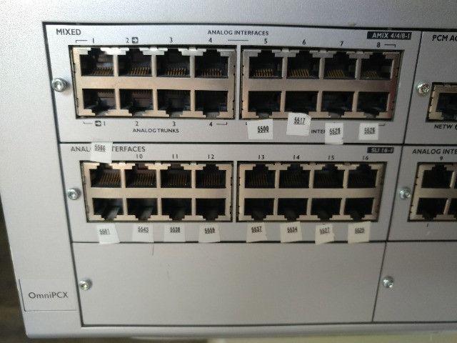 Central Omnipcx Office Com Módulos Alcatel Telefone - Foto 4