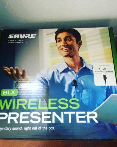 Microfone s/ fio lapela Shure wireless Blx14br/cvl-h10 - Foto 2
