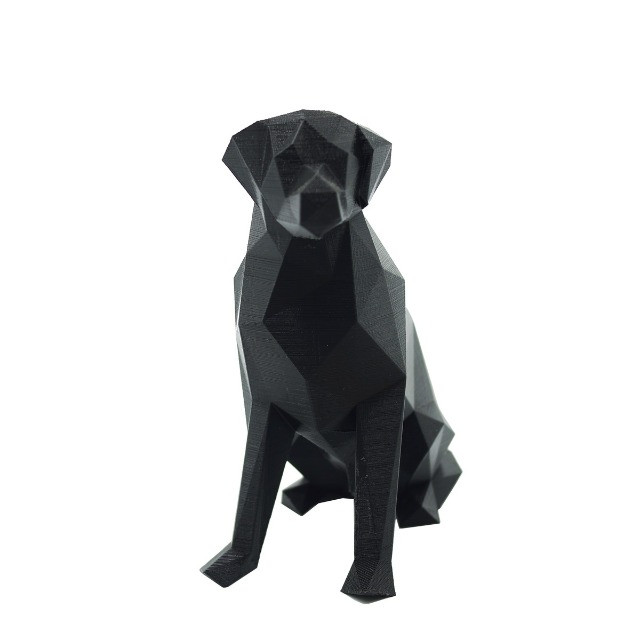 Labrador Geométrico 3D