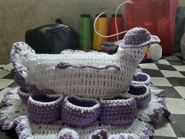 Porta ovos de crochê  - Foto 2