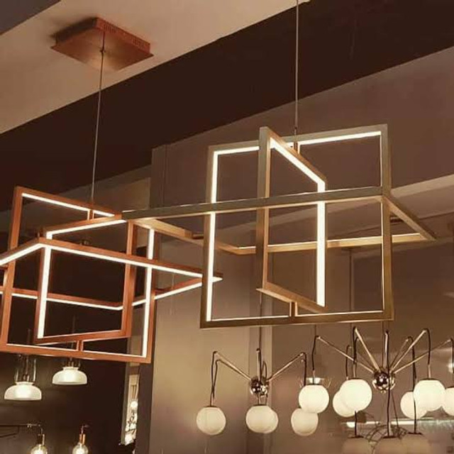 Pendente LED Quality Square Bivolt Dourado - Foto 3