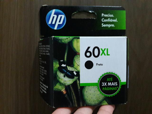 Vendo um cartucho hp 60 xl 3x mais que o normal