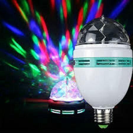 Lâmpada de led colorido rotativo