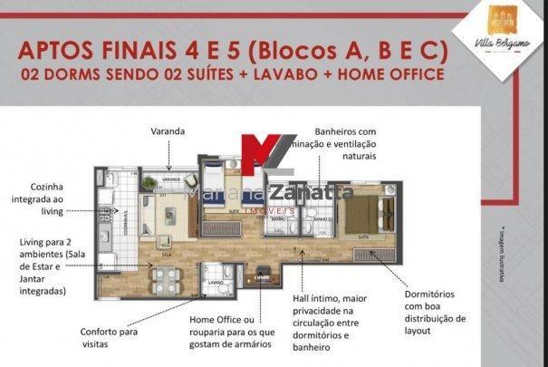 Villa Bergamo - Apartamento em Lançamentos no bairro Jardim Firenze - Santa Bárb... - Foto 10