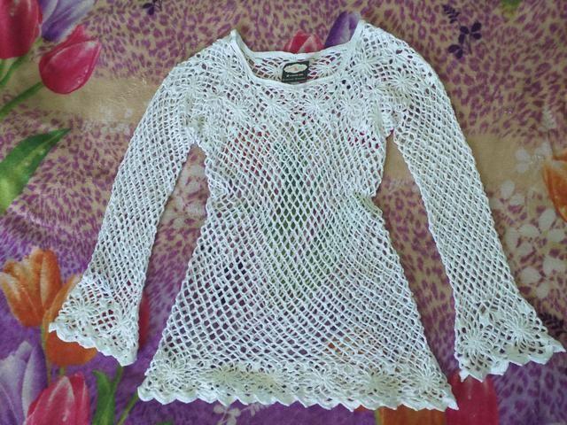 Blusa em crochê - Foto 2