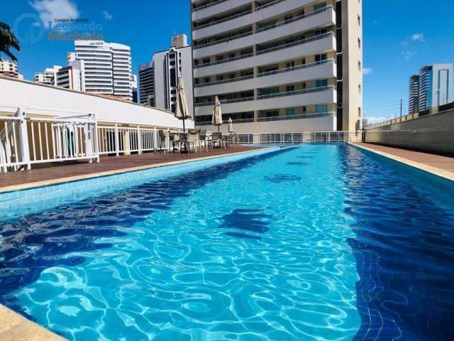 Apartamento com 3 dormitórios à venda, 115 m² por R$ 585.000 - Cocó - Fortaleza/CE - Foto 2