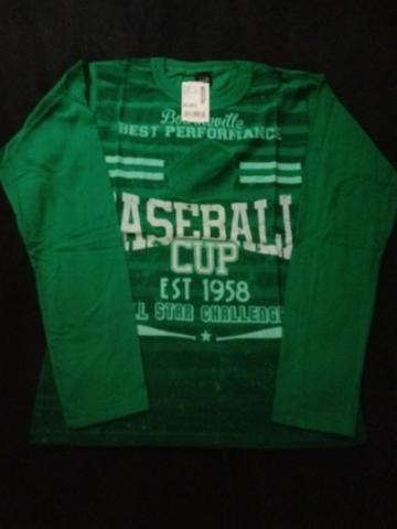 5d2870e14 Camiseta manga longa baseball nova tamanho 14 - Artigos infantis ...