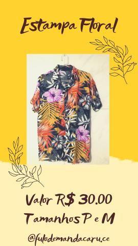 Camisa de Botão R$30 P/M/G - Foto 5