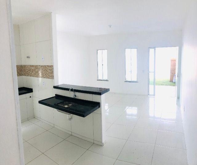 JP linda casa com 2 quartos 2 banheiros otimo acabamento com doc. gratis - Foto 6