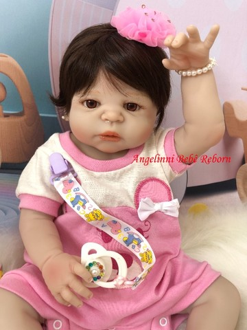 Bebê Reborn Paloma Silicone Pronto Envio! Com Enxoval - Foto 6