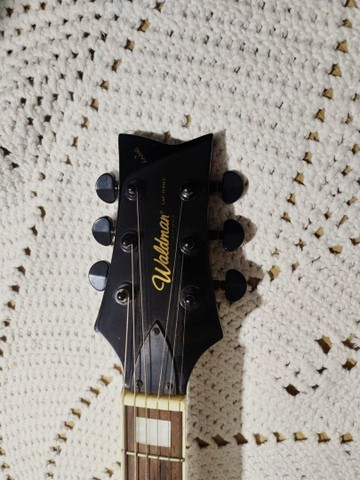 Guitarra Waldmar muito nova com capa - Foto 5