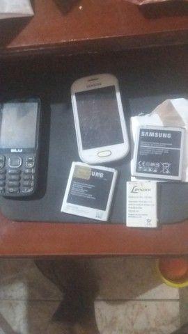 bateria sansung e apatelho de celular de brinde
