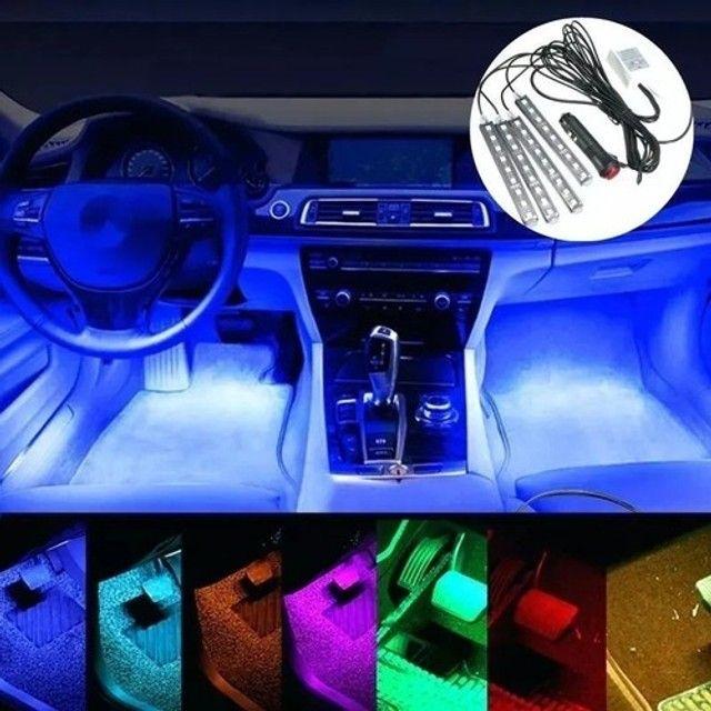 """""""Voltamos Loja já aberta"""" Personalize o interior do seu veículo - Rgb 7 Cores Com Controle - Foto 4"""