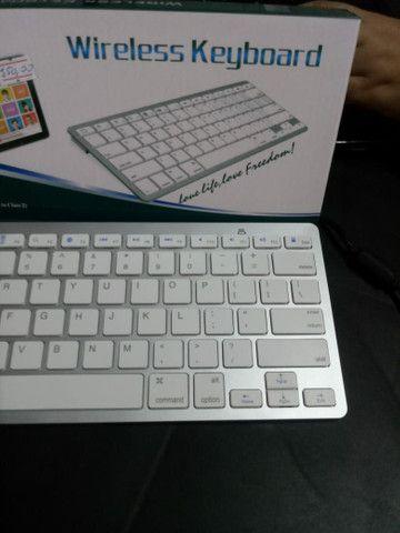 Teclado Bluetooth para IPad Tablet e celular - Foto 2