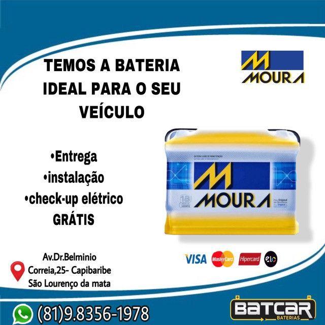 Bateria Moura 60amp 2 anos de garantia *
