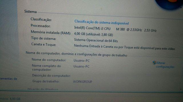 Notebook Samsung rv411 i3 m380 4gb ram HD 250gb - Foto 6