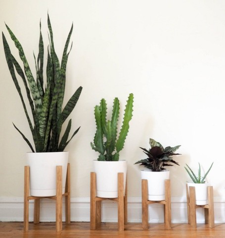 suporte vaso de planta new wood gold - Foto 4