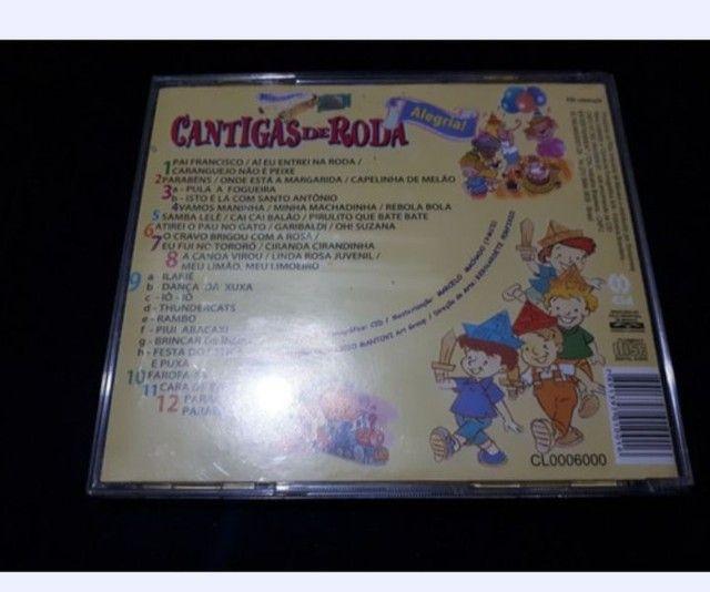Cd Música Infantil Cantigas De Roda Original Oferta - Foto 2