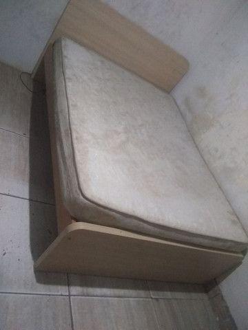 Cama ? ortopédica box de madeira nava em perfeito estado - Foto 2