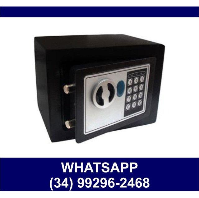 Cofre Eletrônico Digital Senha e Chave 23x17x17cm * Fazemos Entregas