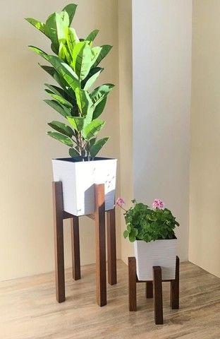 suporte vaso de planta new wood gold - Foto 2