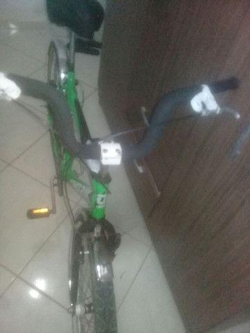 Bicicleta peças novas montei mais precisarei vender pouco usada , em perfeito estado! - Foto 6