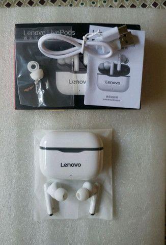 Fone de ouvido Lenovo LP1 bluetooth 5.0 a prova d'água.