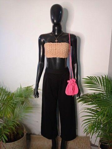 Croped crochê - Foto 2