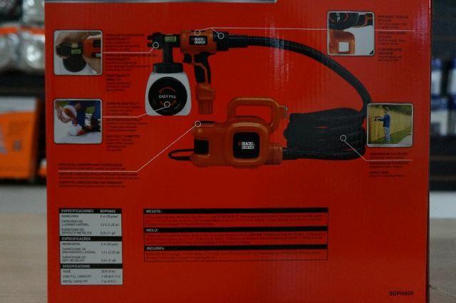 Pistola de Pintura e Pulverização 320W bdph400- Black & Decker 220v - Foto 2