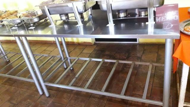 Mesa Aço Inox Para Cozinha Equipamentos E Mobiliário Tiradentes